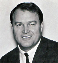 1969 media guide photo of Chuck Noll